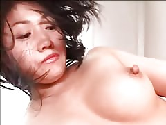 A kinky Asian woman with strapon fuck her man in the ass