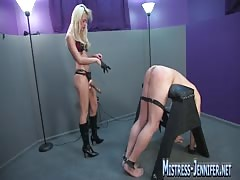 Femdom mistress gets wild fucking her slave's asshole