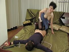 Drunk slave bitch dominated in hardcore pegging