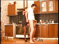 Pegging in the kitchen