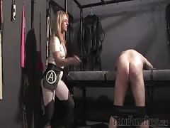 Strapon training from nasty mistresses