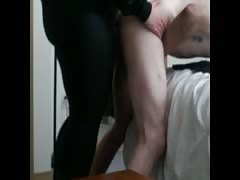 Mistress fucks dude's butthole