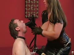 Mistress conducts slave training