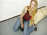 Mistress Katharina jeansitting torture